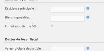 Simulation d'impôt (IFI)