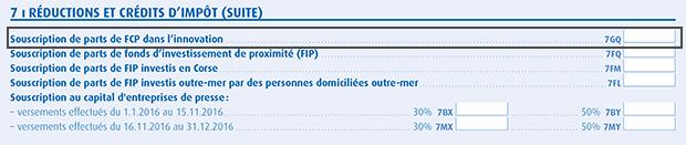 Déclaration fiscale FCPI IR