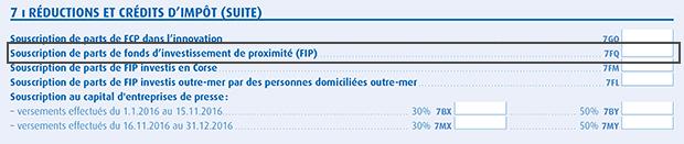 Déclaration fiscale FIP IR