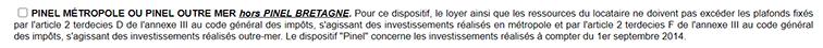 Déclaration Pinel, avantage fiscal demandé